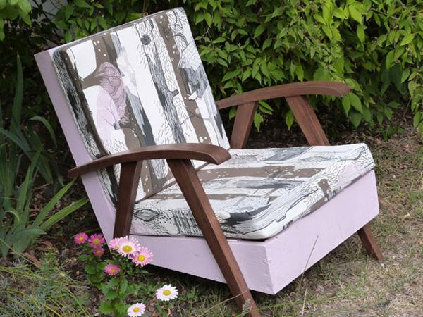 fauteuil vintage relooké