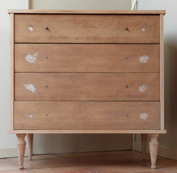 Commode b b r tro relook e partie 1 couture turbulences - Poignee pour commode ...