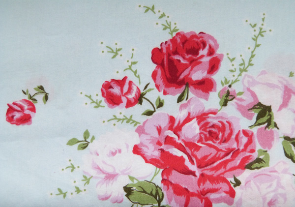 tissu roses anglaises