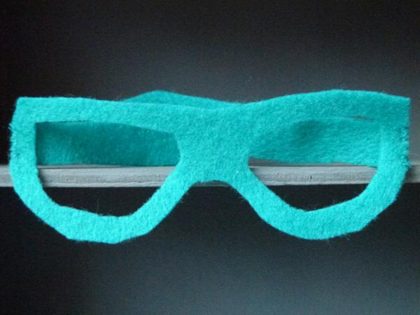 lunettes en feutrine
