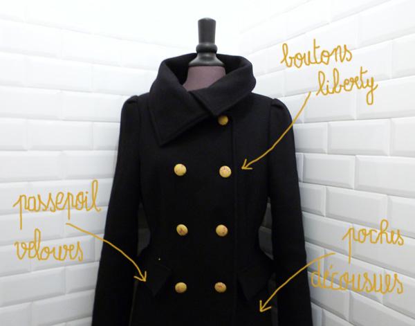 Manteau après détails