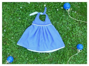 Robe noeud bleu