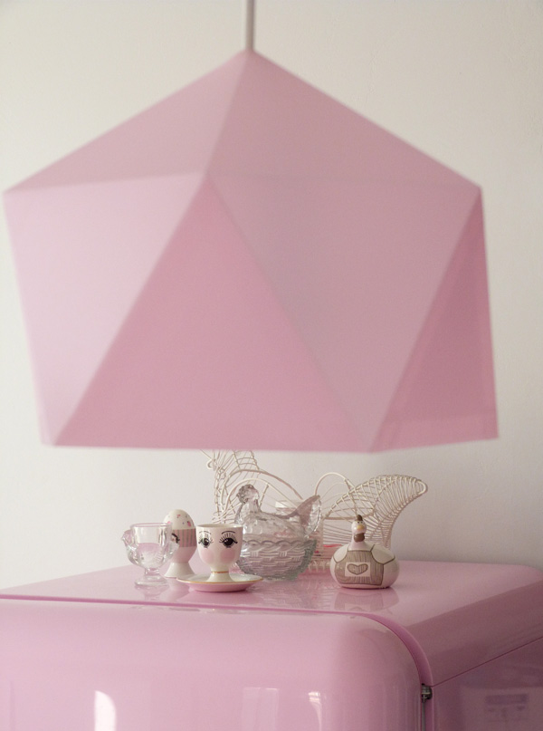 lampe diamant rose