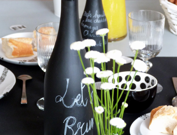 table brunch noir et blanc