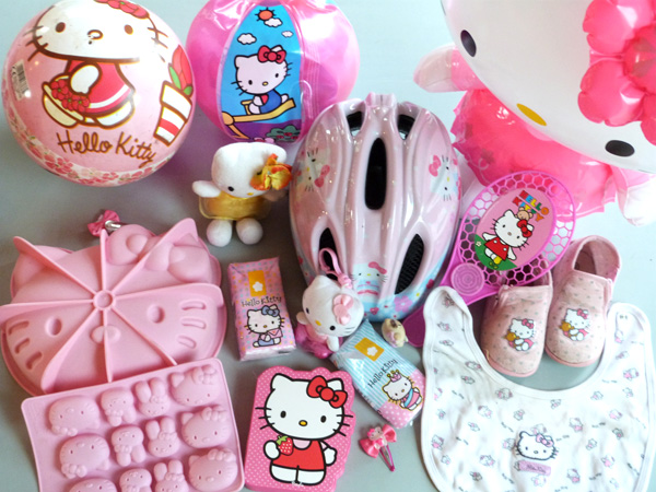 Collection d'objets Hello Kitty
