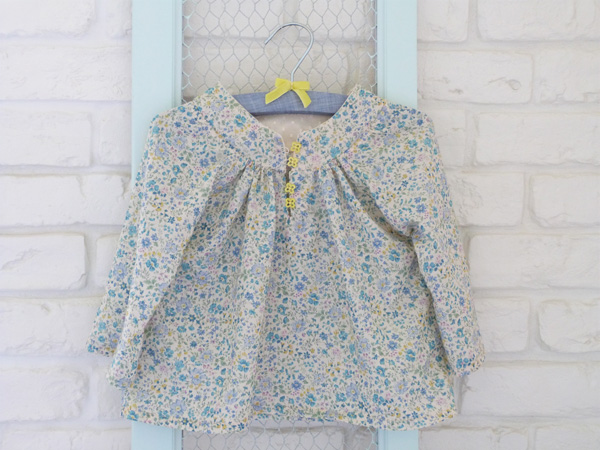 blouse fillette en liberty