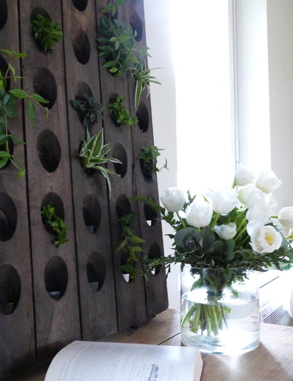 mur végétal récup
