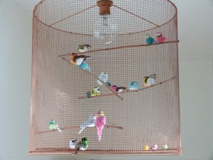 lampe oiseaux suspension