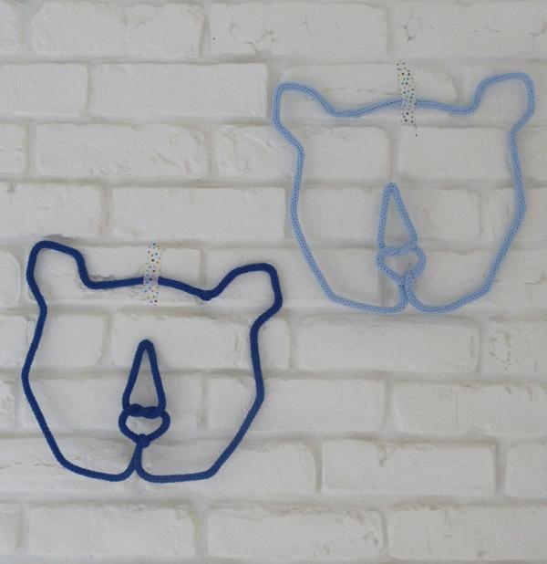 trophée ours en tricotin