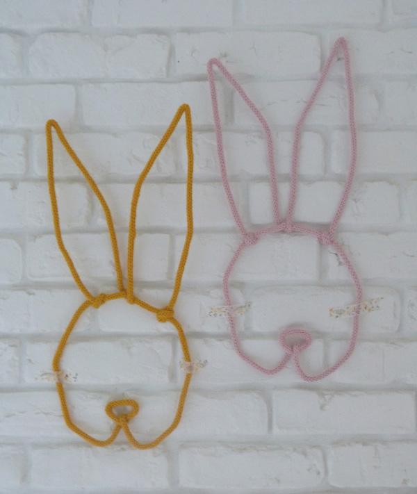 trophées lapin en tricotin