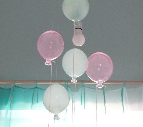 suspension ballon verre