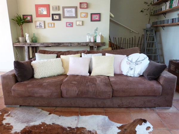 brown sofa vs light cushions