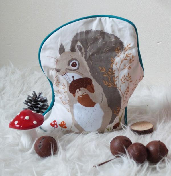 bouillotte sèche écureuil