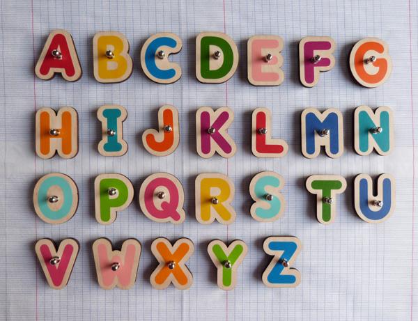 lettres en bois pour tablette