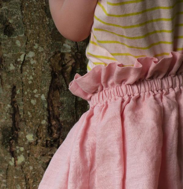jupe fillette lin