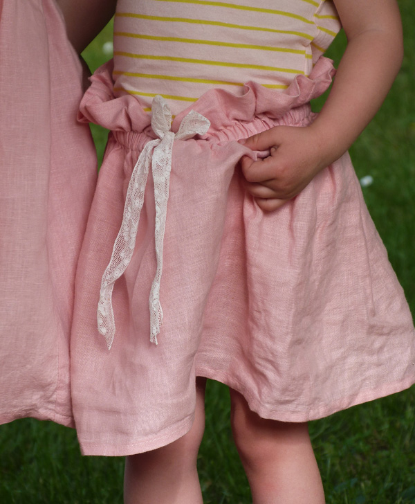 jupe lin fille