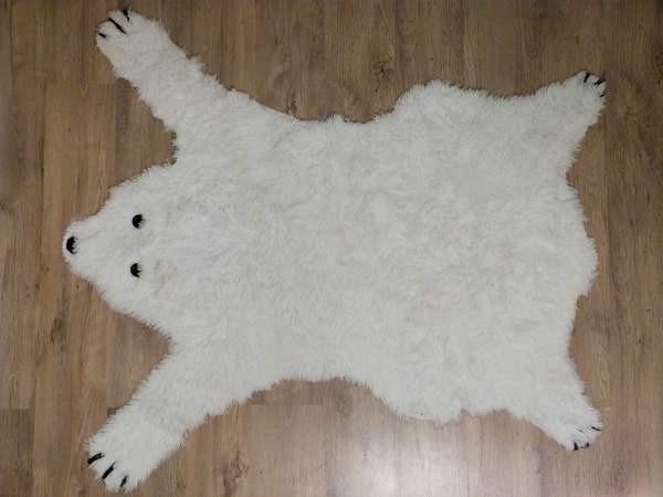 tapis ours polaire diy