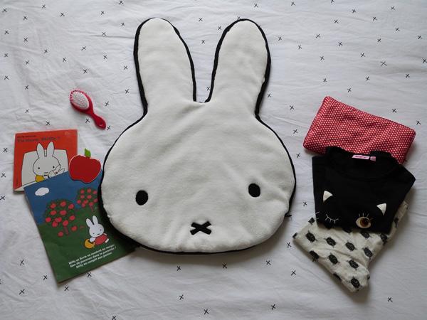 coussin miffy range-pyjama